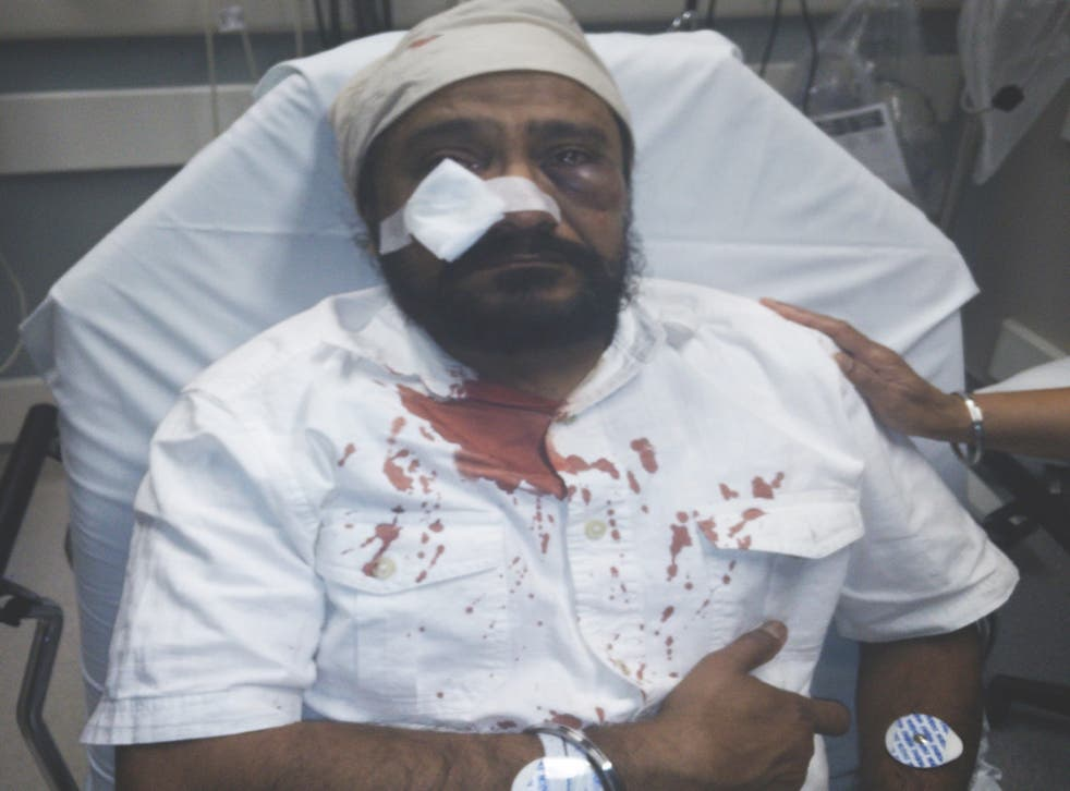 Inderjit Singh Mukker was attacked while driving to the shops