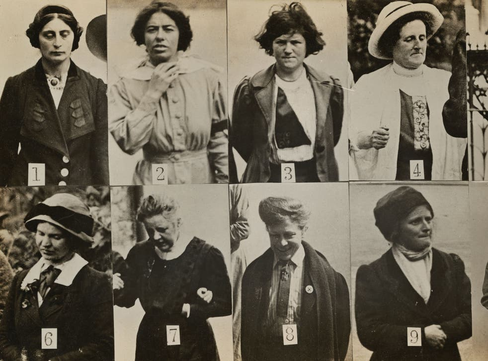 Women on the edge: 'Surveillance Photograph of Militant Suffragettes' by Criminal Record Office from Simon Schama's 'The Face of Britain'