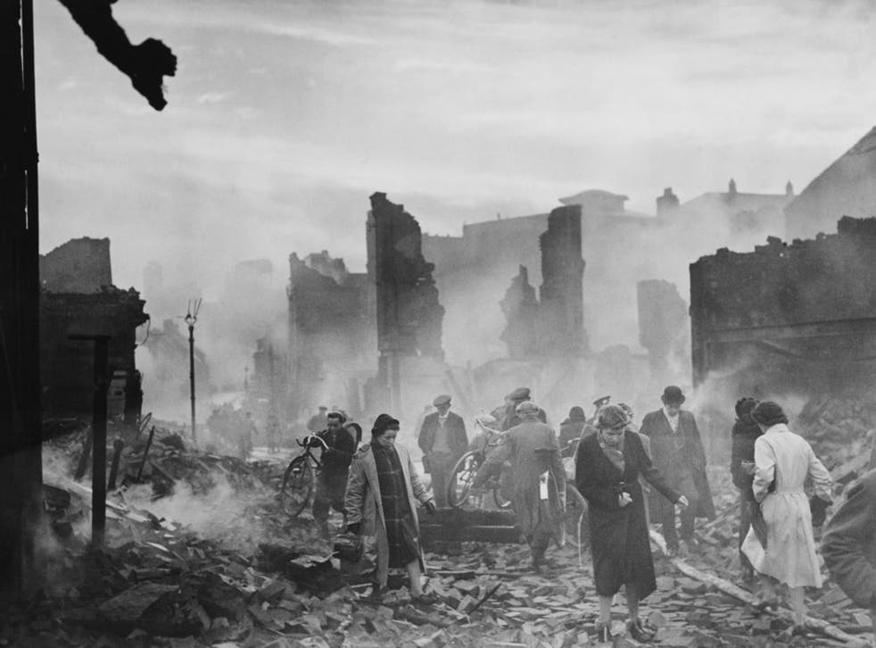 Out of the ashes: the ruins of Earl Street in Coventry following the Blitz in November 1940