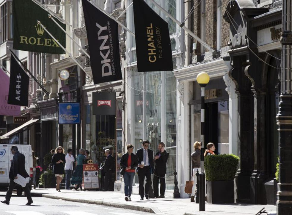 The luxury goods retailers on Old Bond Street – Europe's most expensive street – would rather own than rent their own shops