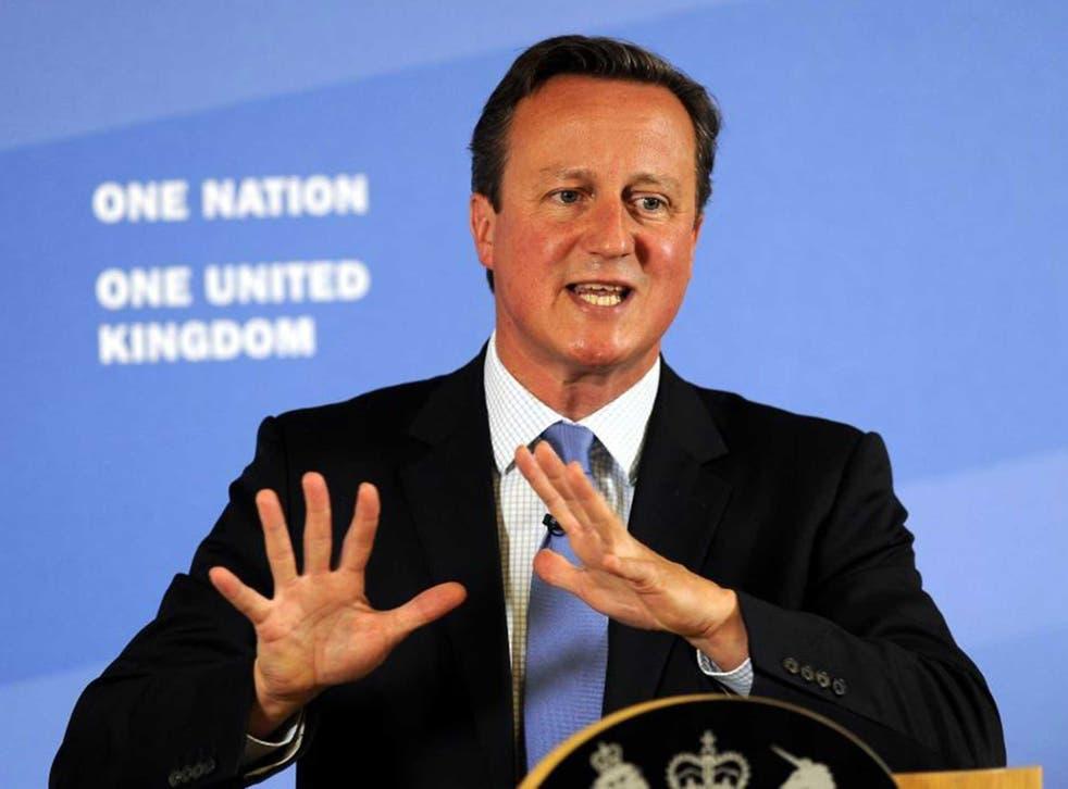 David Cameron speaking in Leeds