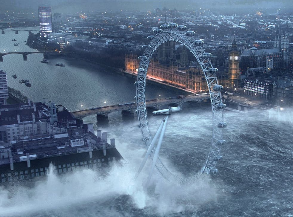 London could resemble this scene from the 2007 film 'Flood' if Antarctica's ice sheet were to melt