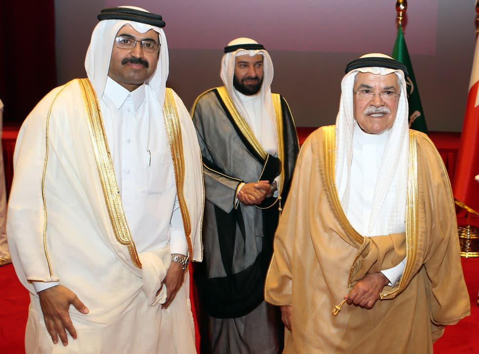 Saudi Arabia's oil minister Ali al-Naimi (right) has kept production going despite the slump in prices