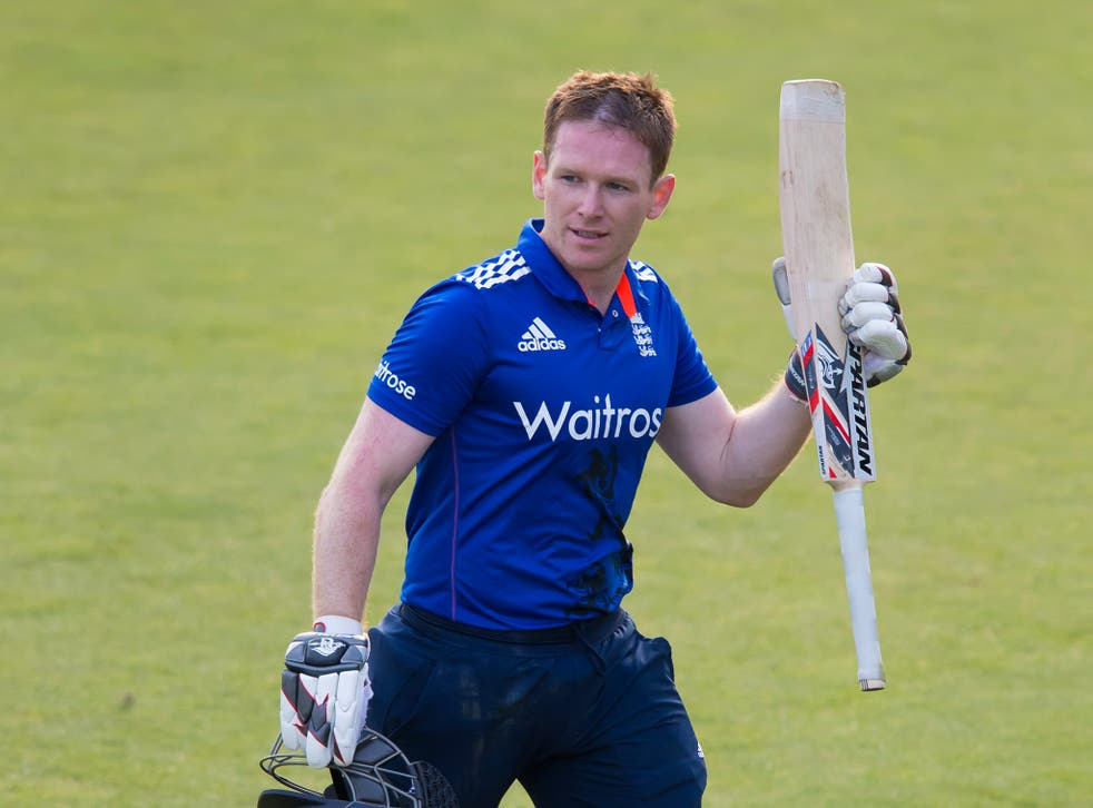 England captain Eoin Morgan produced a beautifully controlled innings of 92 yesterday
