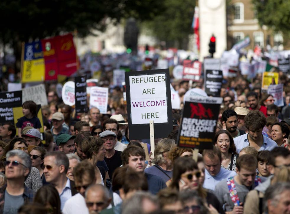 """The Met Police said 50,000 people was a """"conservative"""" estimate for the numbers who attended the solidarity march in London"""