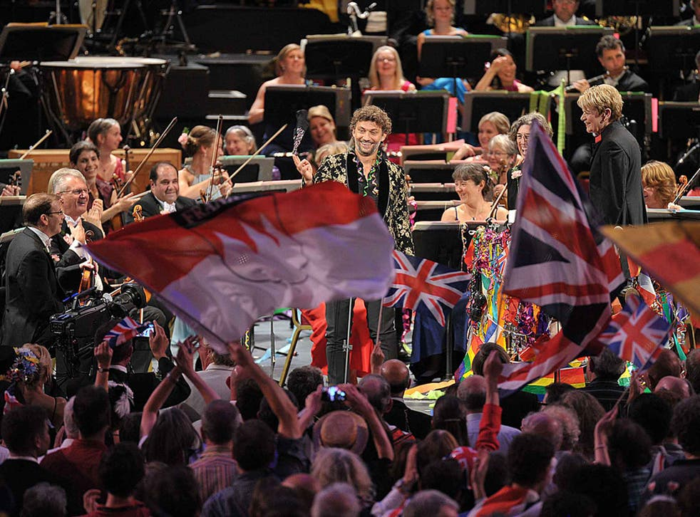 Jonas Kaufmann performs Puccini arias with the BBC Symphony Orchestra conducted by Marin Alsop at the Last Night of the Proms 2015