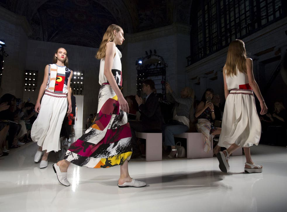 The Victoria Beckham Spring/Summer 2016 collection has lots of colour and print, which is unusual for her. She said it is aimed at urban surfers