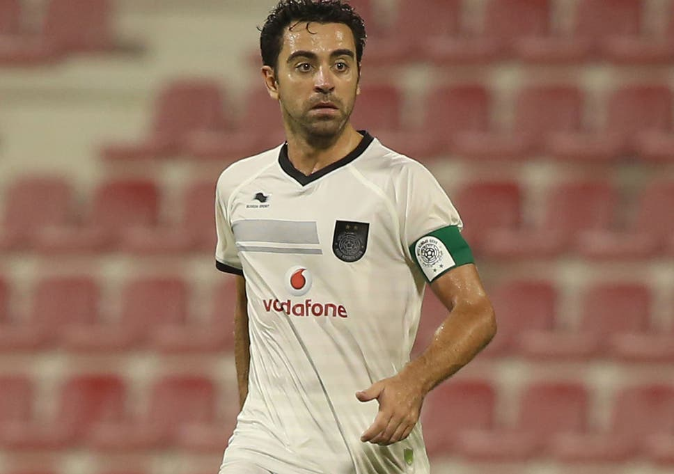 online store 3656b ae08a Xavi in action for Al Sadd