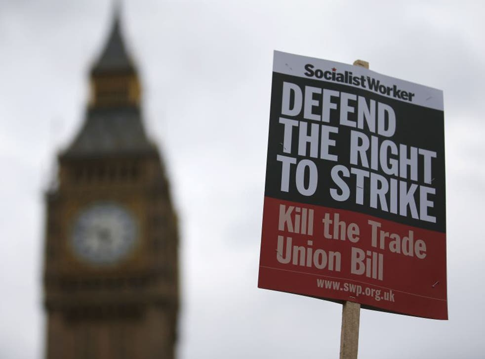 The Trade Union Bill passed its second reading in Commons by 317 votes to 284