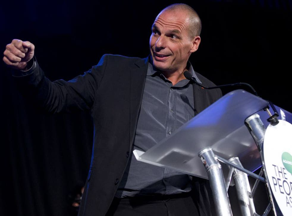 Former Greek finance minister, Yanis Varoufakis, was speaking at a meeting of The People's Assembly in London on Monday