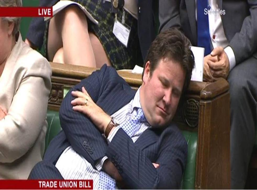 Tory MP Alec Shelbrooke during the debate on the Trade Union Bill