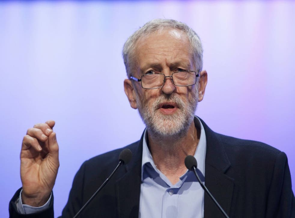 The new leader of Britain's opposition Labour Party Jeremy Corbyn addresses the Trade Union Congress (TUC) in Brighton in southern England, September 15, 2015. REUTERS/Peter Nicholls