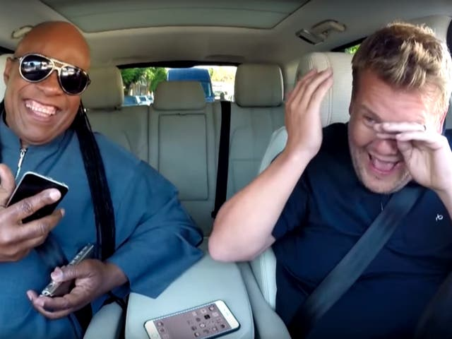<p>The presenter was reduced to tears during a Carpool Karaoke session</p>