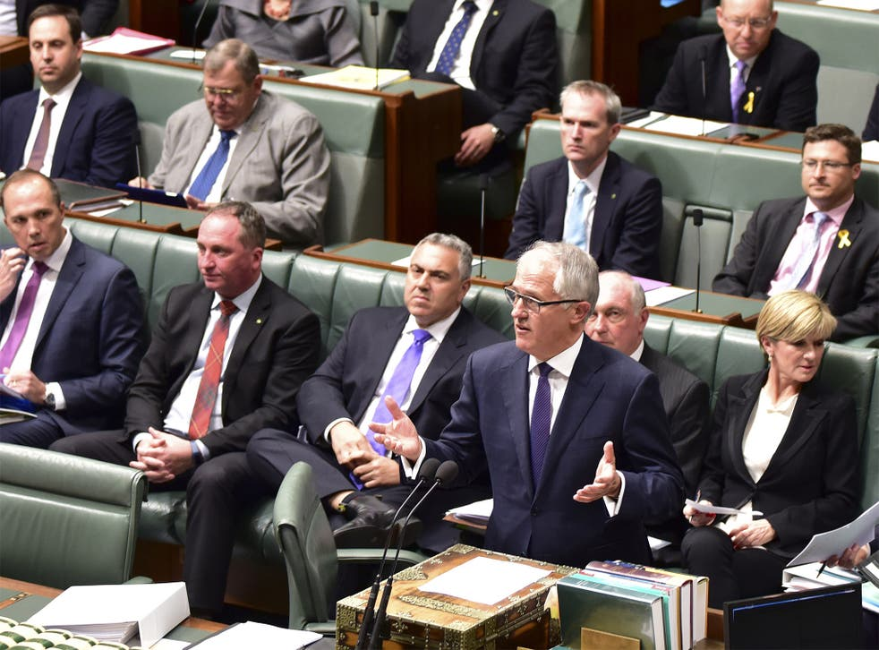 Malcolm Turnbull makes an address to Australian Parliament on Tuesday