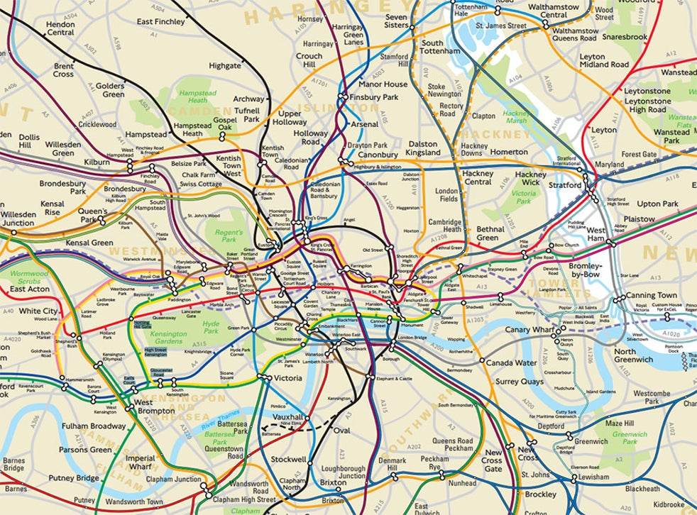 London Underground Subway Map.Tfl Forced To Reveal Secret Geographically Accurate London Tube And Rail Map The Independent The Independent
