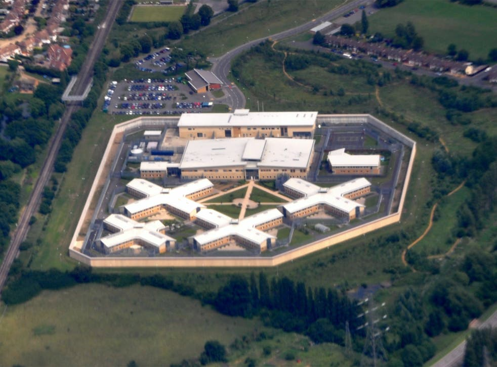 An aerial view of HM Prison Bronzefield in Surrey. File photo