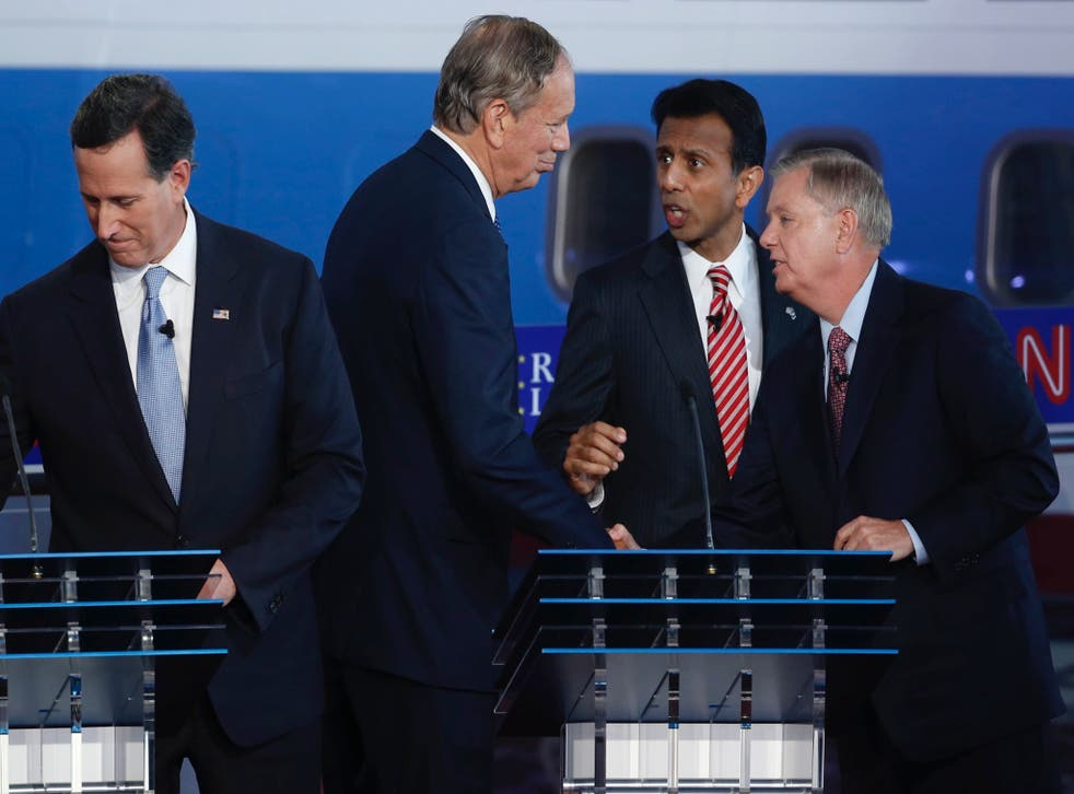 The four candidates in the first debate