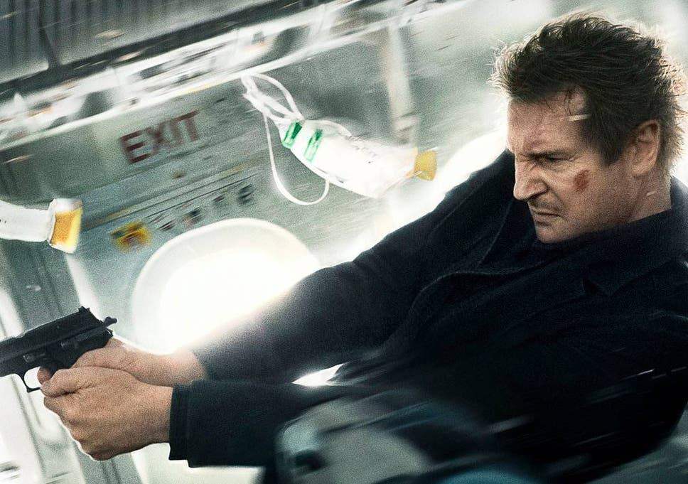 All the movie posters on which Liam Neeson holds a handgun