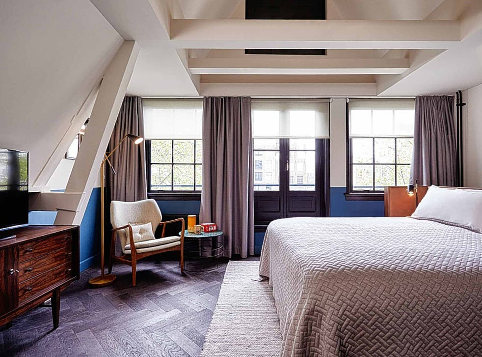 Retro style in one of the bedrooms