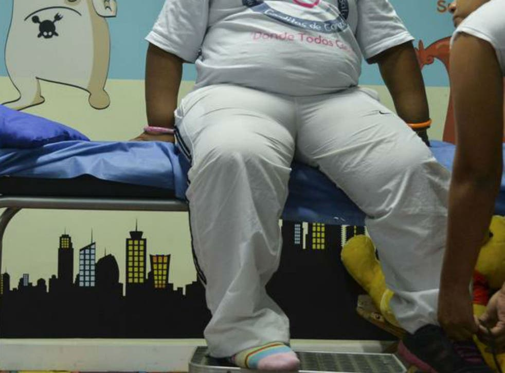 """An """"uncontrolled"""" calorie intake and """"poor"""" family diet led to the girl weighting 5st 7lb, according to doctors"""