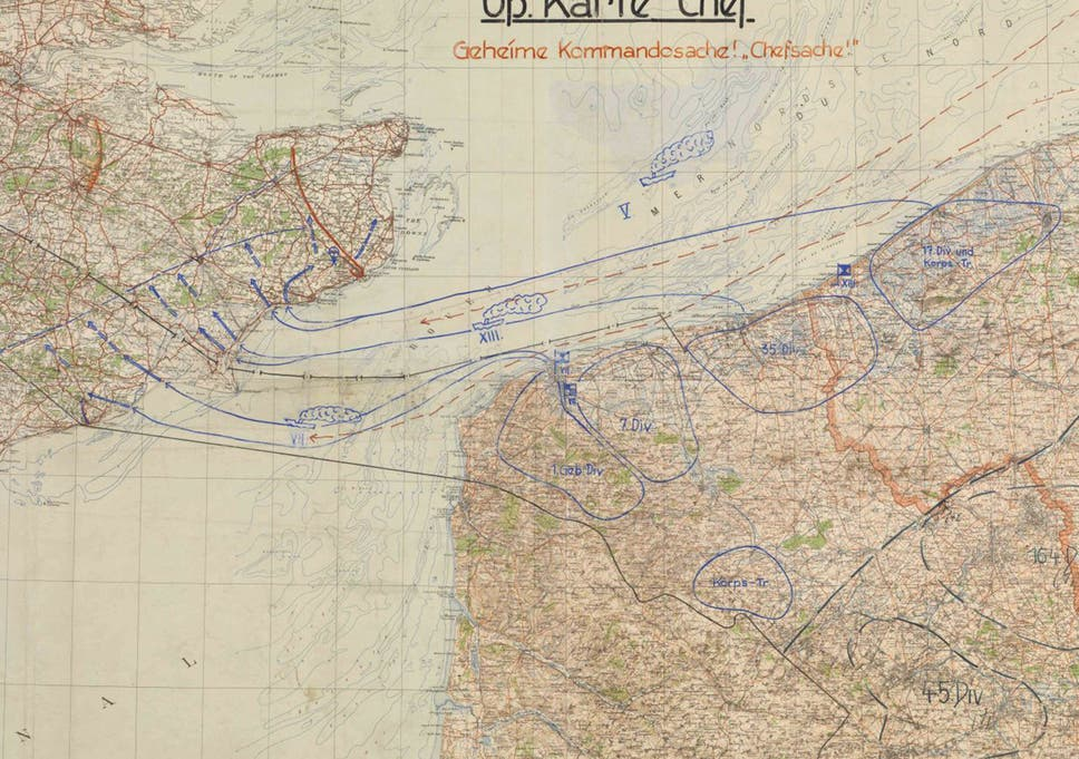 Operation Sea Lion: Hitler's plan to invade Britain marked with