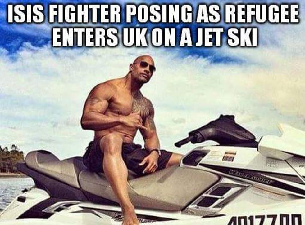 The Rock stars in one of the satirical memes