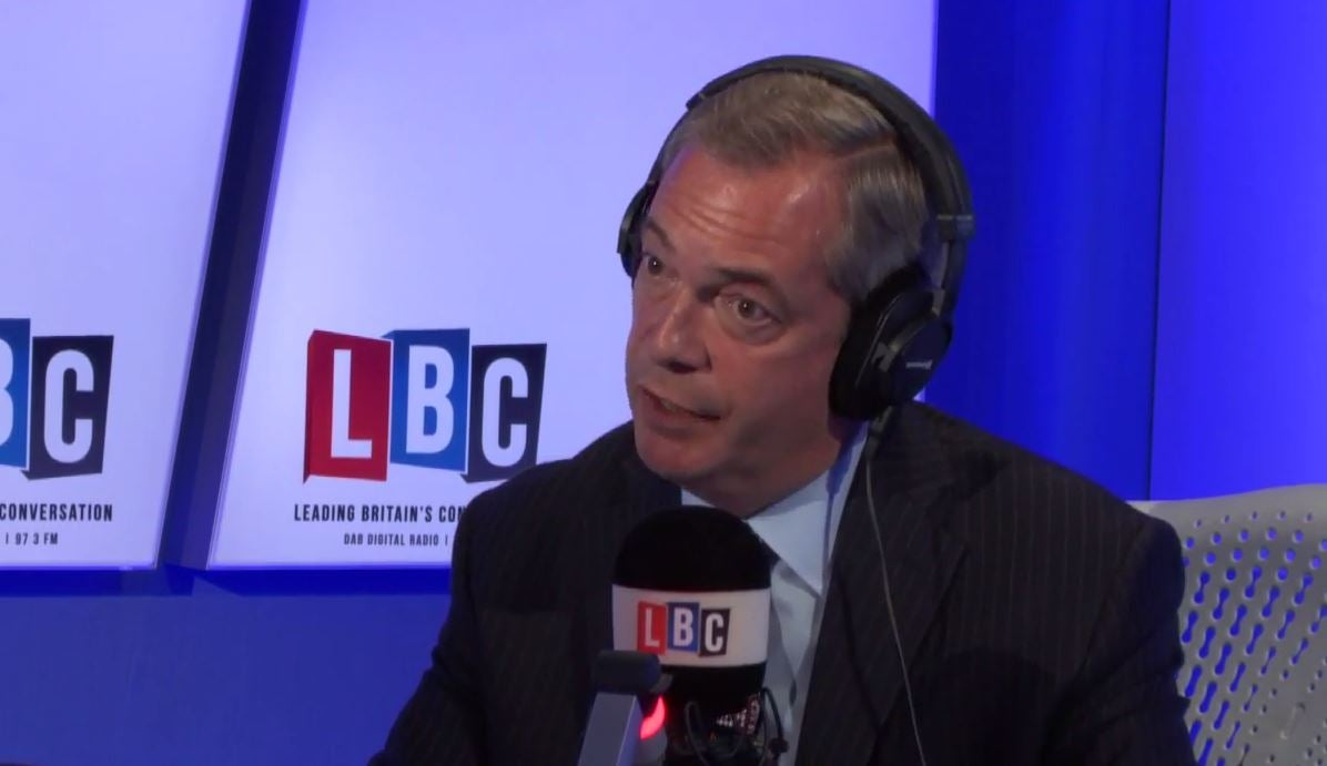 Nigel Farage to stand in for Katie Hopkins and host LBC ...