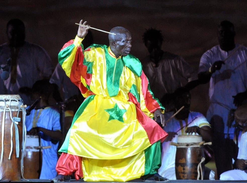 N'Diaye in Senegal in 2010: 'the mathematician of rhythm'