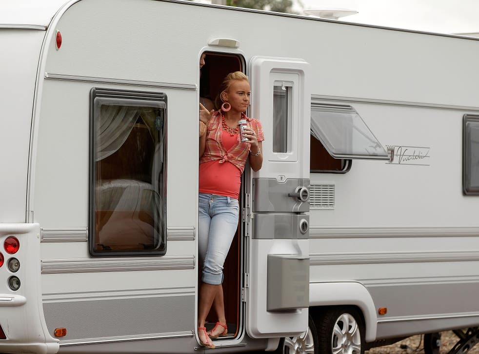 Less than 40% of Gypsies and Irish travellers live in caravans