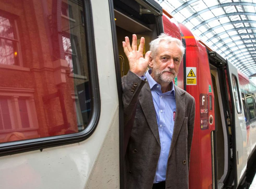 """Jeremy Corbyn's plans for a """"People's Railway"""" would lead to a third of franchises being brought under public ownership by 2025 if he became prime minister in 2020"""
