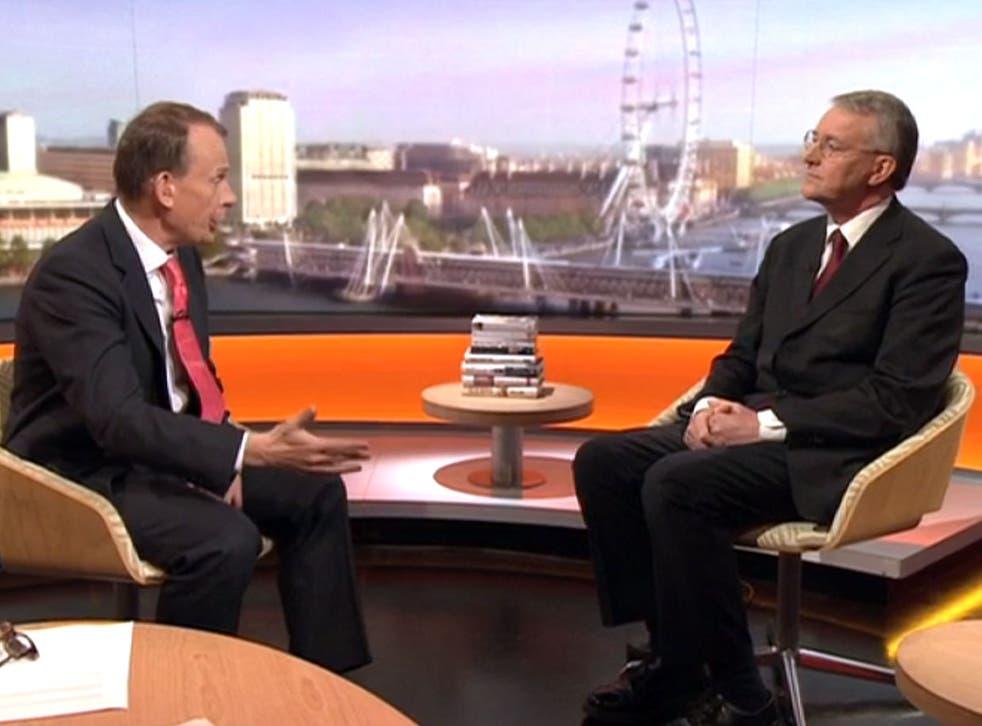 Shadow Foreign Secretary Hilary Benn on The Andrew Marr Show