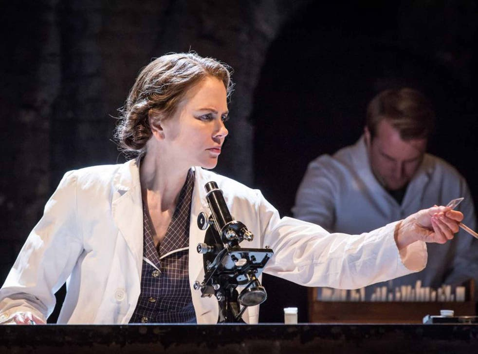 Nicole Kidman as Rosalind Franklin holds the crucial X-ray plate in 'Photograph 51'