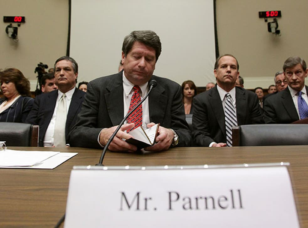 Stewart Parnell at a House of Energy and Commerce hearing in Capitol Hill in Washington DC in 2009