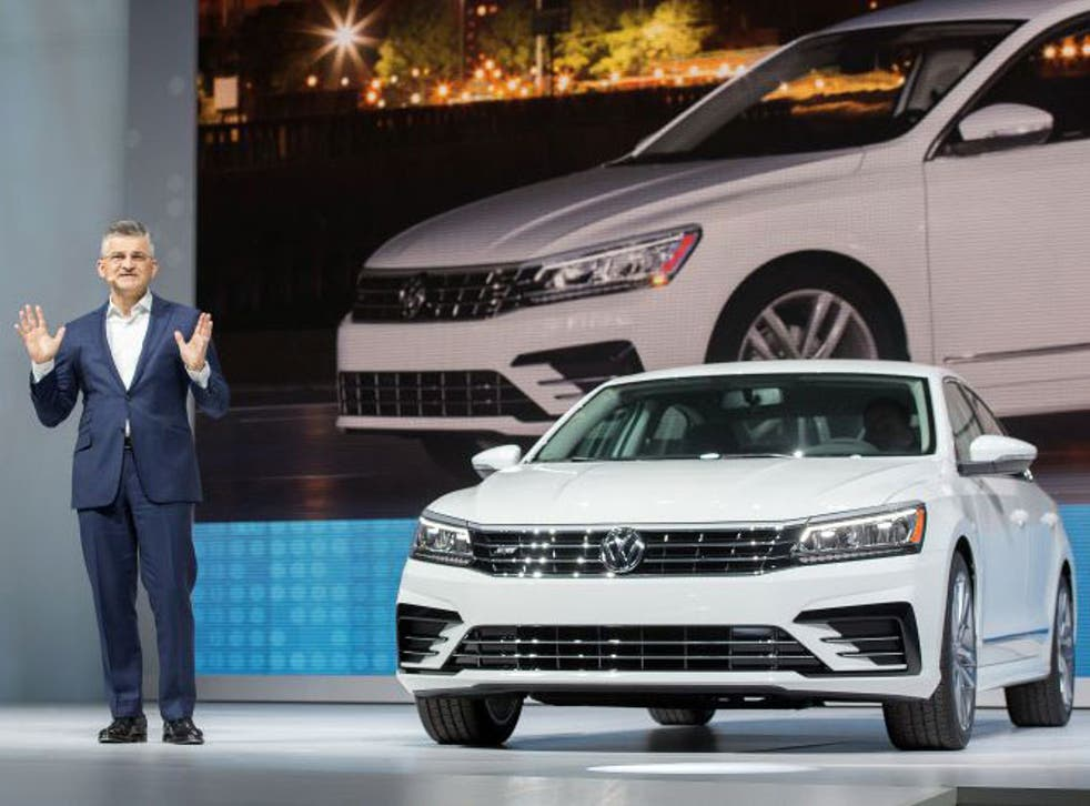 President and CEO of Volkswagen Group of America Michael Horn attends the 2016 Volkswagon Passat Unveiling at the Duggal Greenhouse on September 21, 2015