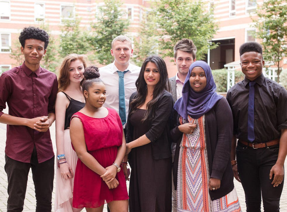 Future alumni: teenagers from disadvantaged areas who took part in King's College London's summer school this year