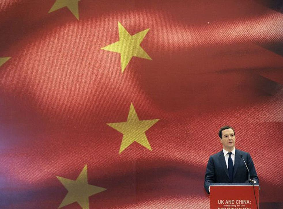Britain's Chancellor of the Exchequer George Osborne speaks at an urbanization forum in Chengdu, Sichuan province, China, September 24, 2015