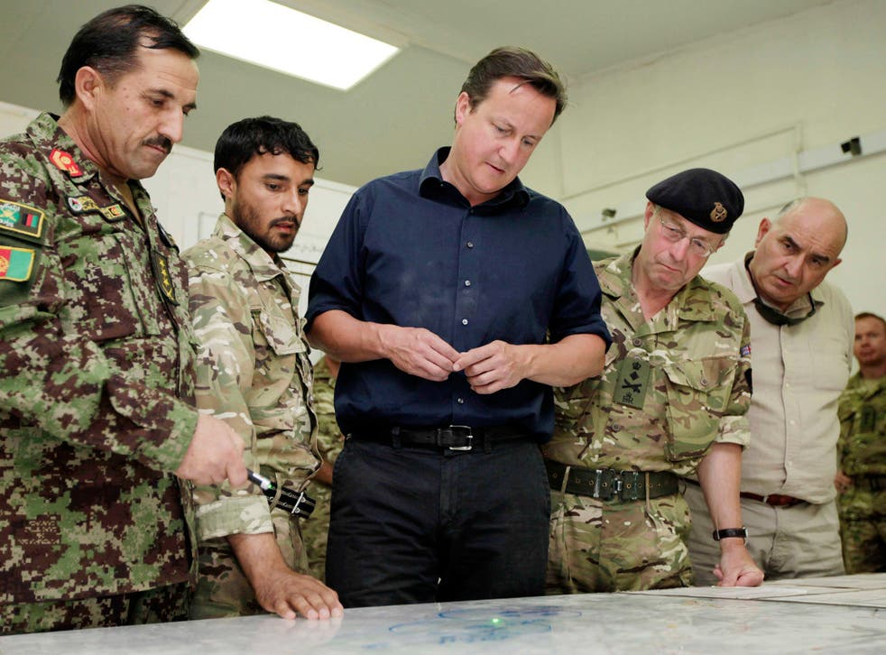 David Cameron visits Helmand Province in 2011