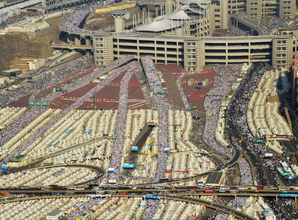 Hundreds of thousands of Muslim pilgrims make their way to cast stones at a pillar symbolizing the stoning of Satan in a ritual called 'Jamarat,' the last rite of the annual hajj