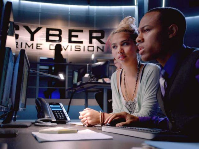 A scene from the new CSI: Cyber series