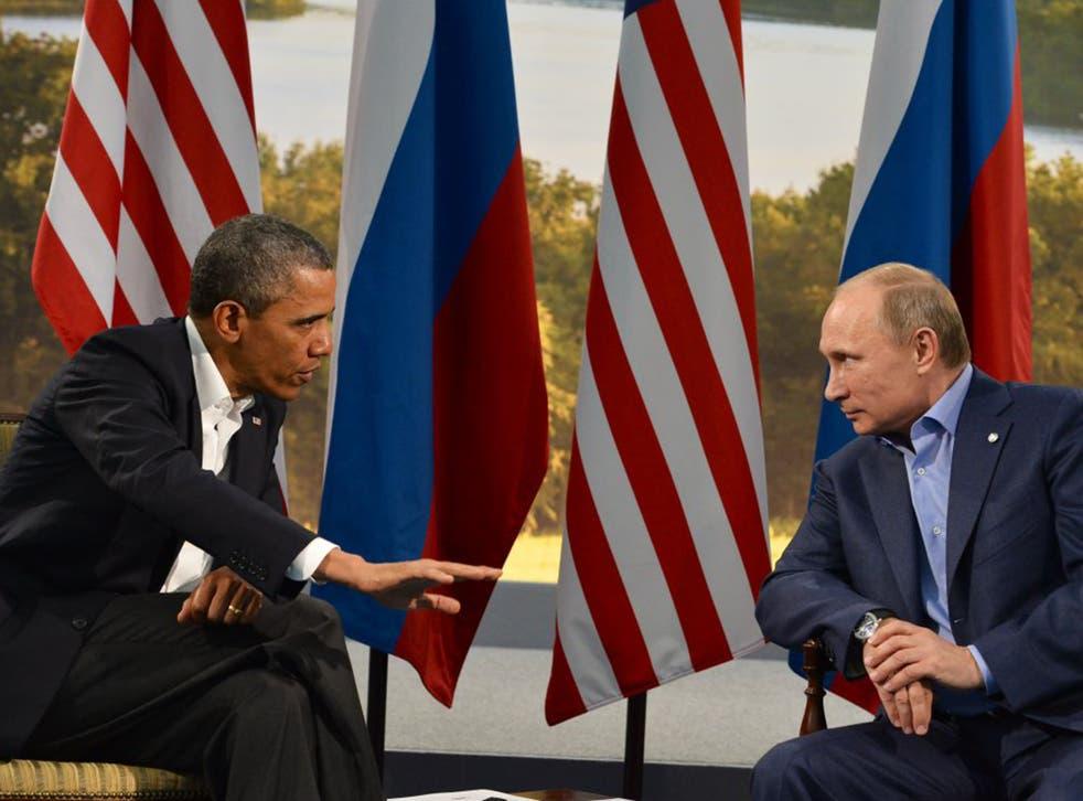 Presidents Obama and Putin will hold talks on Sunday