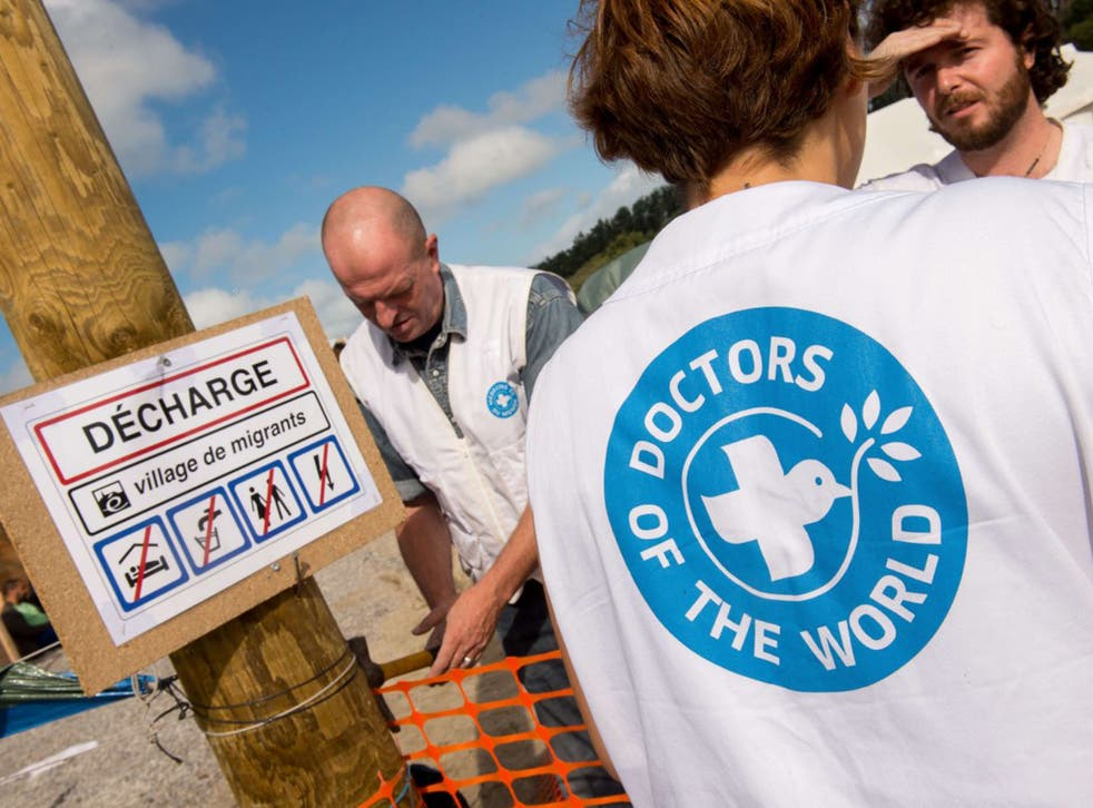 Volunteer doctors and nurses working for Doctors of the World are the only medical staff in 'the Jungle' in Calais