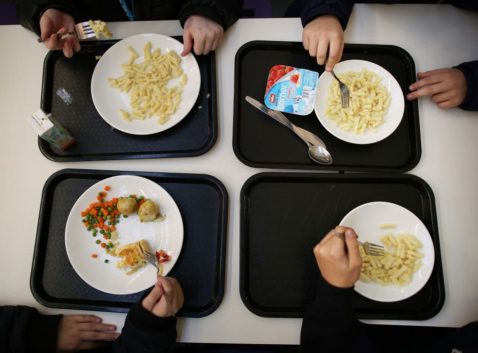 Children at a school in France were forced to wear discs at lunchtime