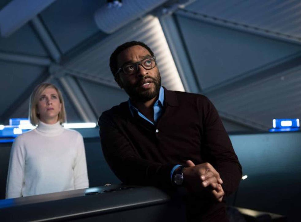 Chiwetel Ejiofor in 'The Martian' with Kristen Wiig