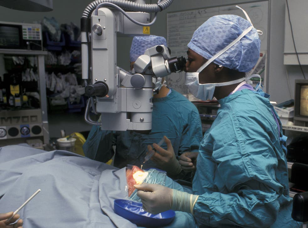 FILE PHOTO: The groundbreaking operation was carried out be surgeons at London's Moorfields Eye Hospital