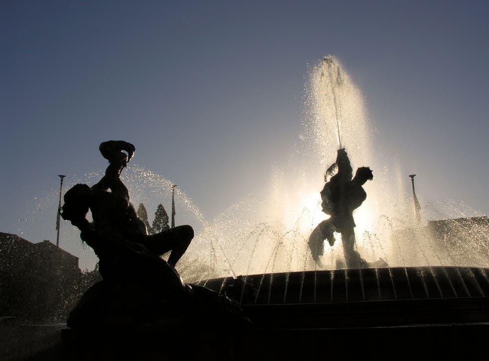 Fontana Delle Naiadi - The Fountain of the Naiads, Piazza della Repubblica, Rome, Italy.