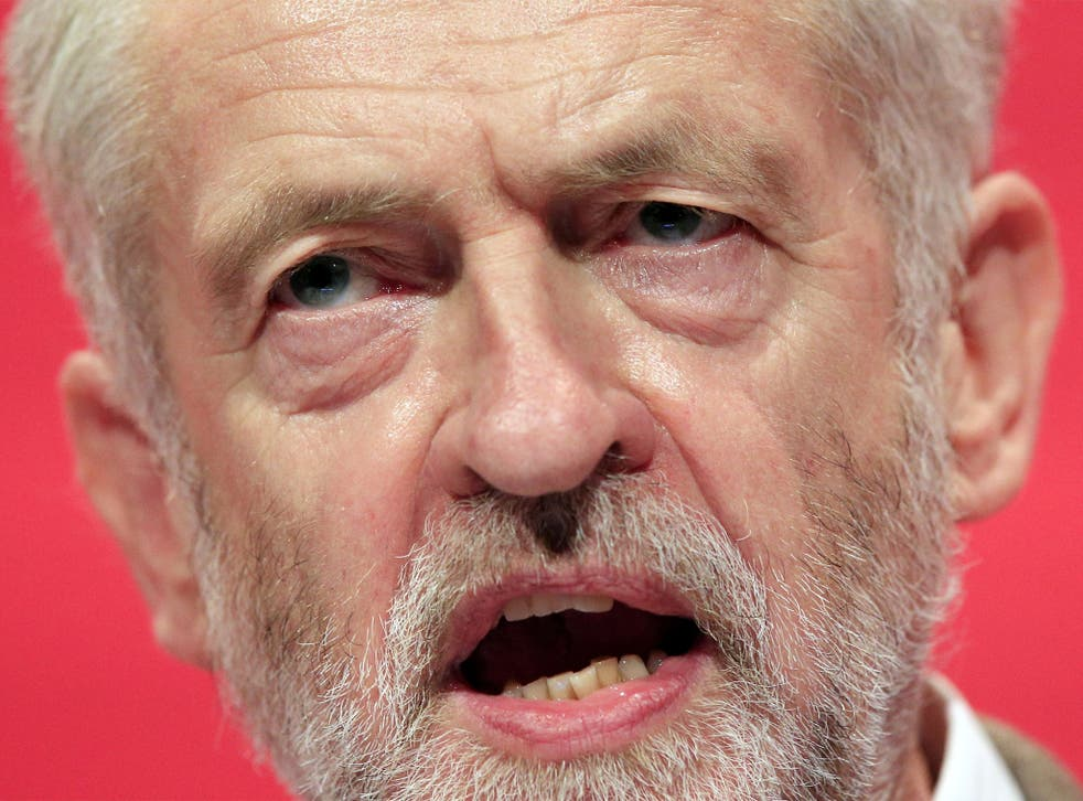 Jeremy Corbyn delivers his first keynote speech during the third day of the Labour Party conference in Brighton,