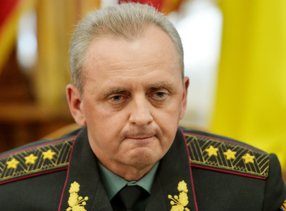Colonel-General Viktor Muzhenko, commander-in-chief of Ukraine's general staff, says he expects further fighting