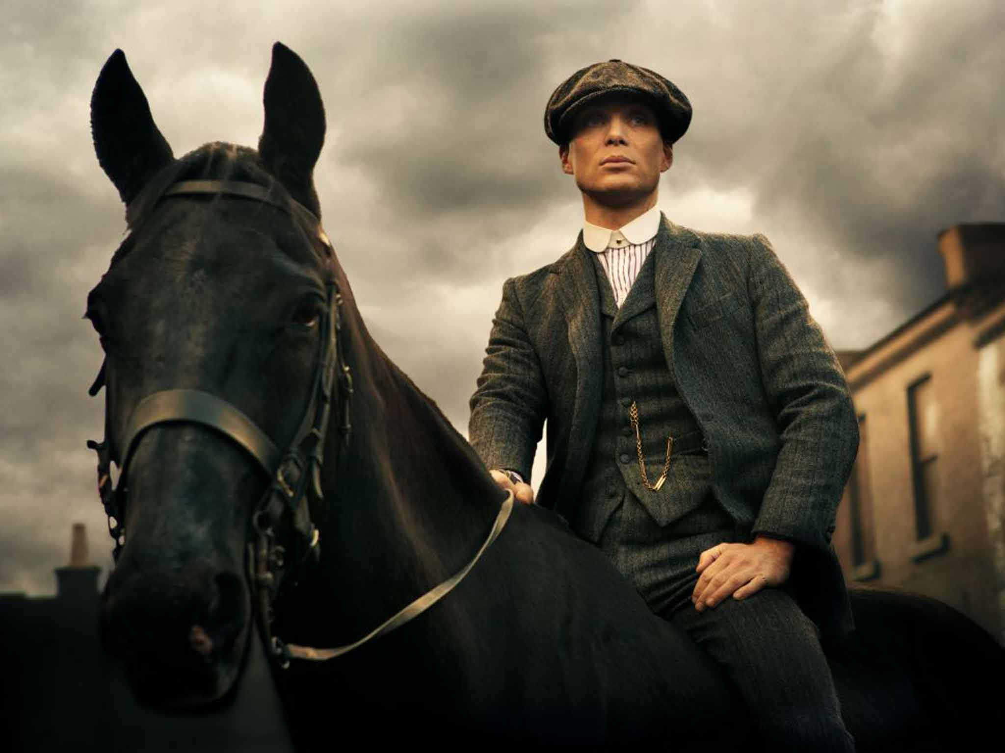 Cillian Murphy as Tom Shelby in BBC show, Peaky Blinders