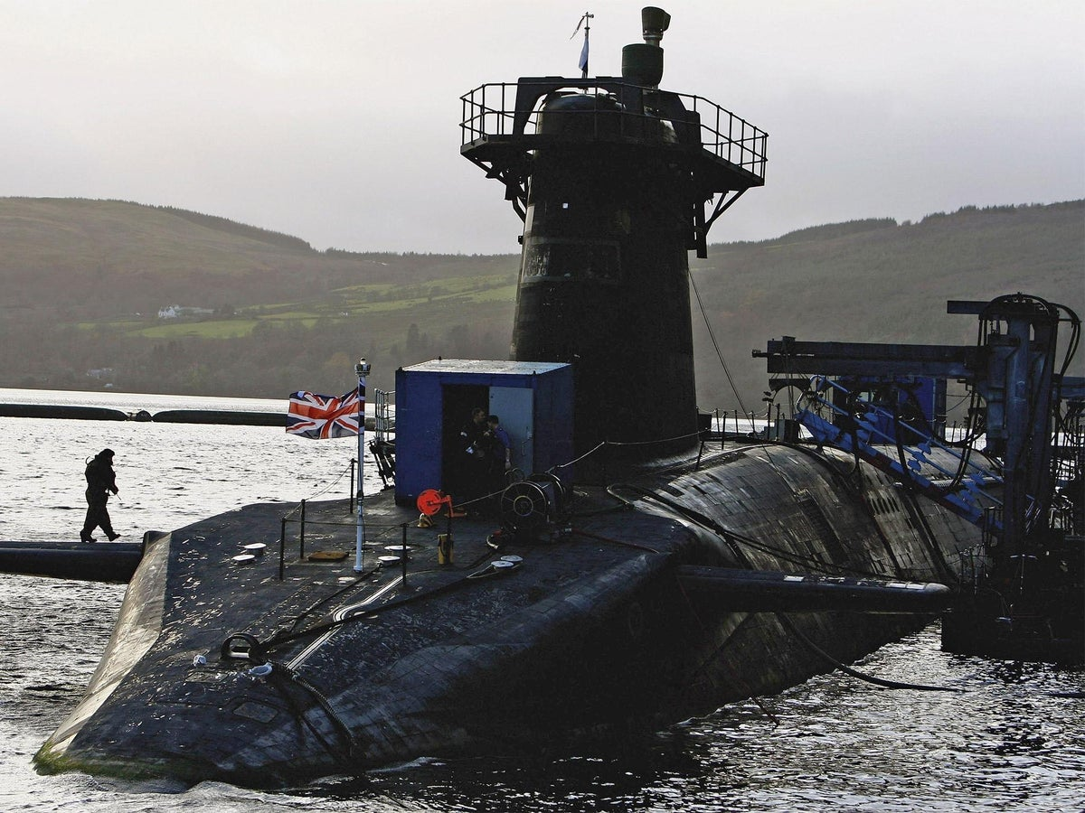 Faslane nuclear submarine base could be flooded as sea levels rise, warns  Scottish Natural Heritage   The Independent   The Independent