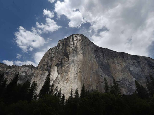 <p>The 3,000-foot granite wall called El Capitan is located in Yosemite national park, California, US.&nbsp;</p>
